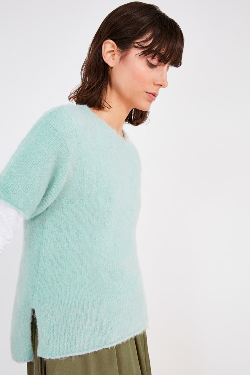 American Vintage / Vintage Vacaville Short Sleeve Knit / Baby Blue