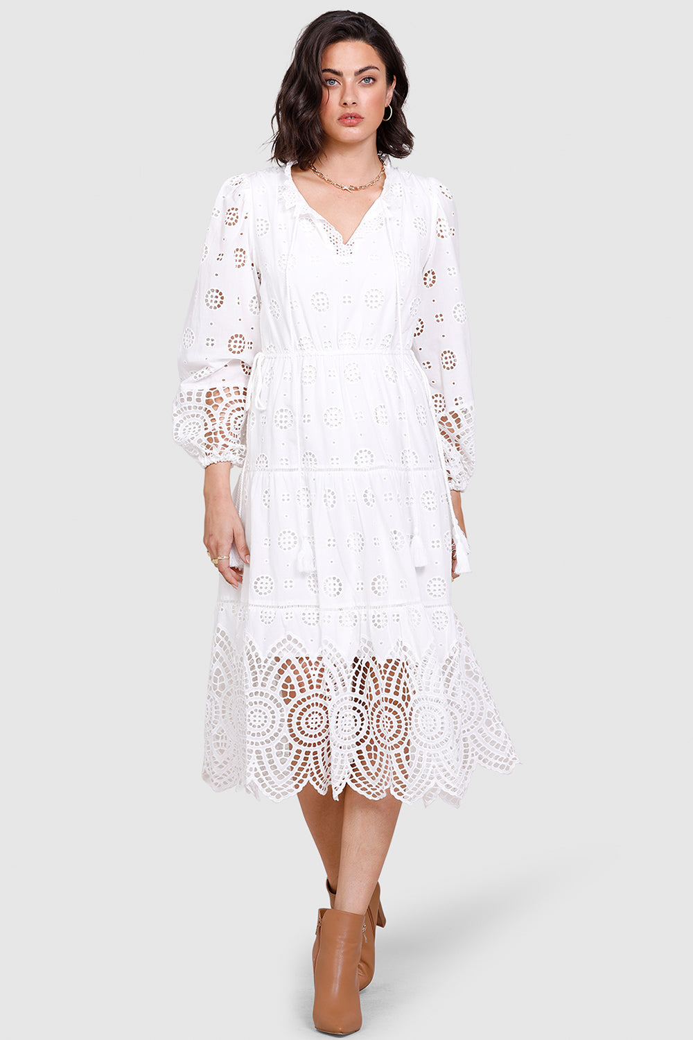 Ministry Of Style / Westbound Midi Dress / Ivory