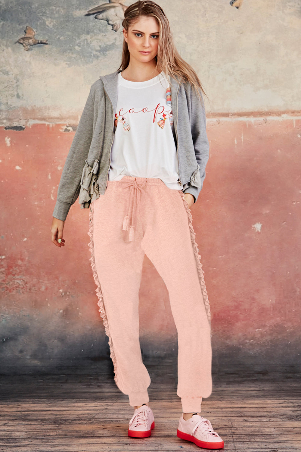 Coop / You Frill Me Pant / Pink
