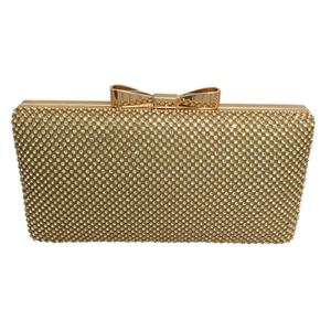Luxe Bow Clutch - Gold