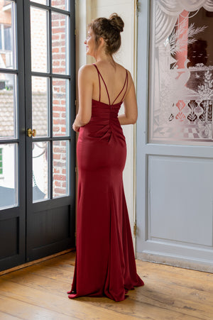 Diva Dress - Bordeaux