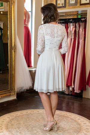 Cuteness Dress - White & Sleeves