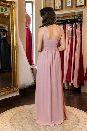 Lovely Bow Dress - Old Pink