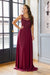 Lovely Bow Dress - Bordeaux