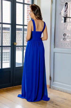 Lovely Bow Dress - Bright Blue