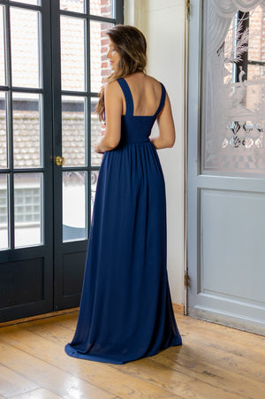 Lovely Bow Dress - Navy