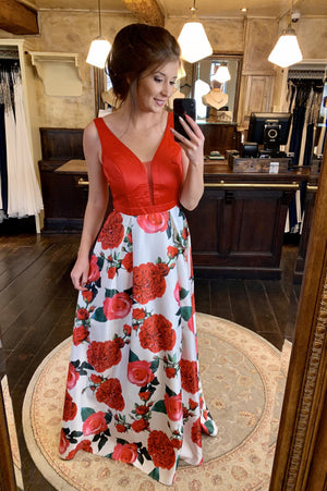 Botanical Dress - Red