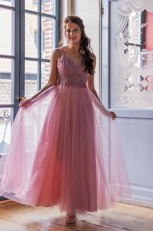 Aurora Dress - Old Pink