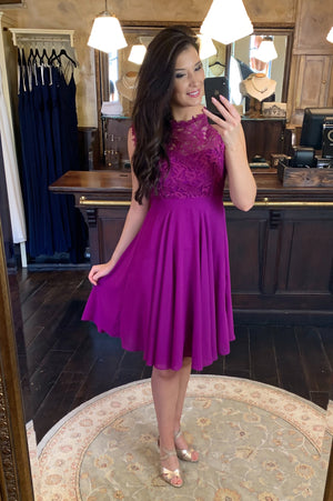 Love & Lace Dress - Purple