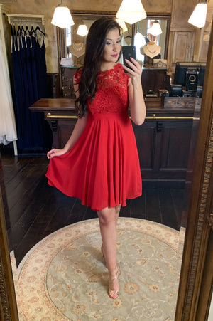 Love & Lace Dress - Red