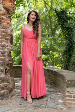 Fall In Love Dress - Coral Pink