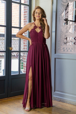 Dance All Night Dress - Bordeaux