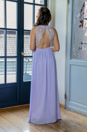 Lace Back Dress - Lila - Online Exclusive