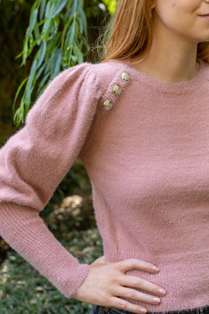 Fluffy Sweater - Old Pink