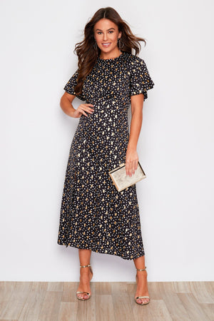 Dotty Dress - Black, White & Gold