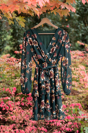 Adorable Autumn Dress - Gorgeous Green