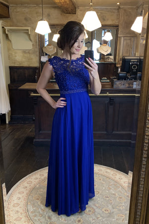 Save The Last Dance Dress - Bright Blue