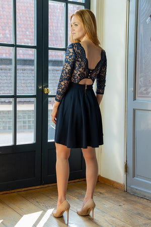 Girly Girls Dress - Navy