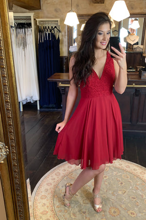 Cutie Pie Dress - Cerise
