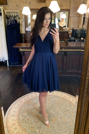 Cutie Pie Dress - Navy - Online Exclusive