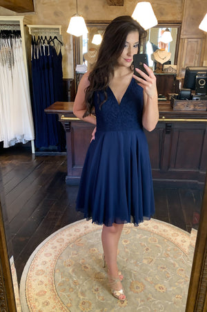 Cutie Pie Dress - Navy