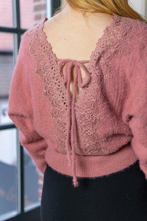 Pretty Sweater - Old Pink