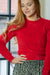 Cropped Sweater - Bright Red