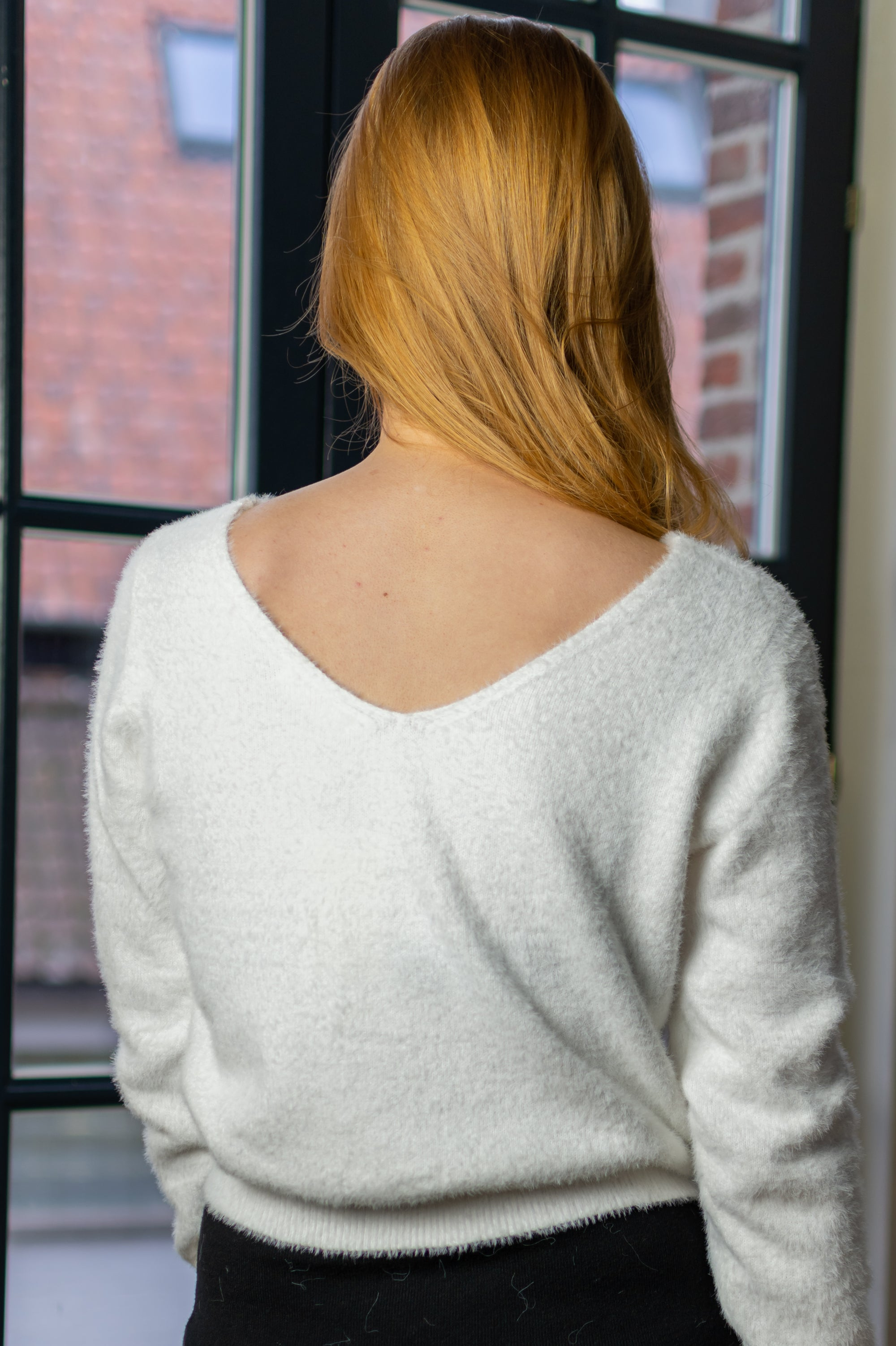 Diamond Sweater - White
