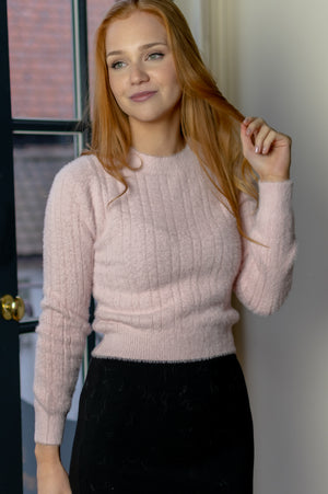 Cropped Sweater - Baby Pink