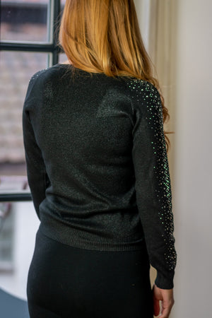 Beaded Sweater - Black