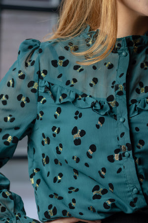 Lovely Day Shirt - Emerald Green