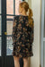Adorable Autumn Dress - Black & Bordeaux