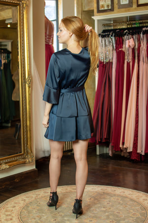 All Mine Dress - Navy Glow