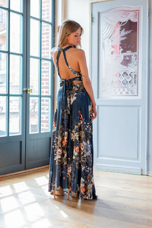 Tropical Vibes Dress - Navy
