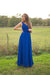 Catch The Bouquet Dress - Bright Blue