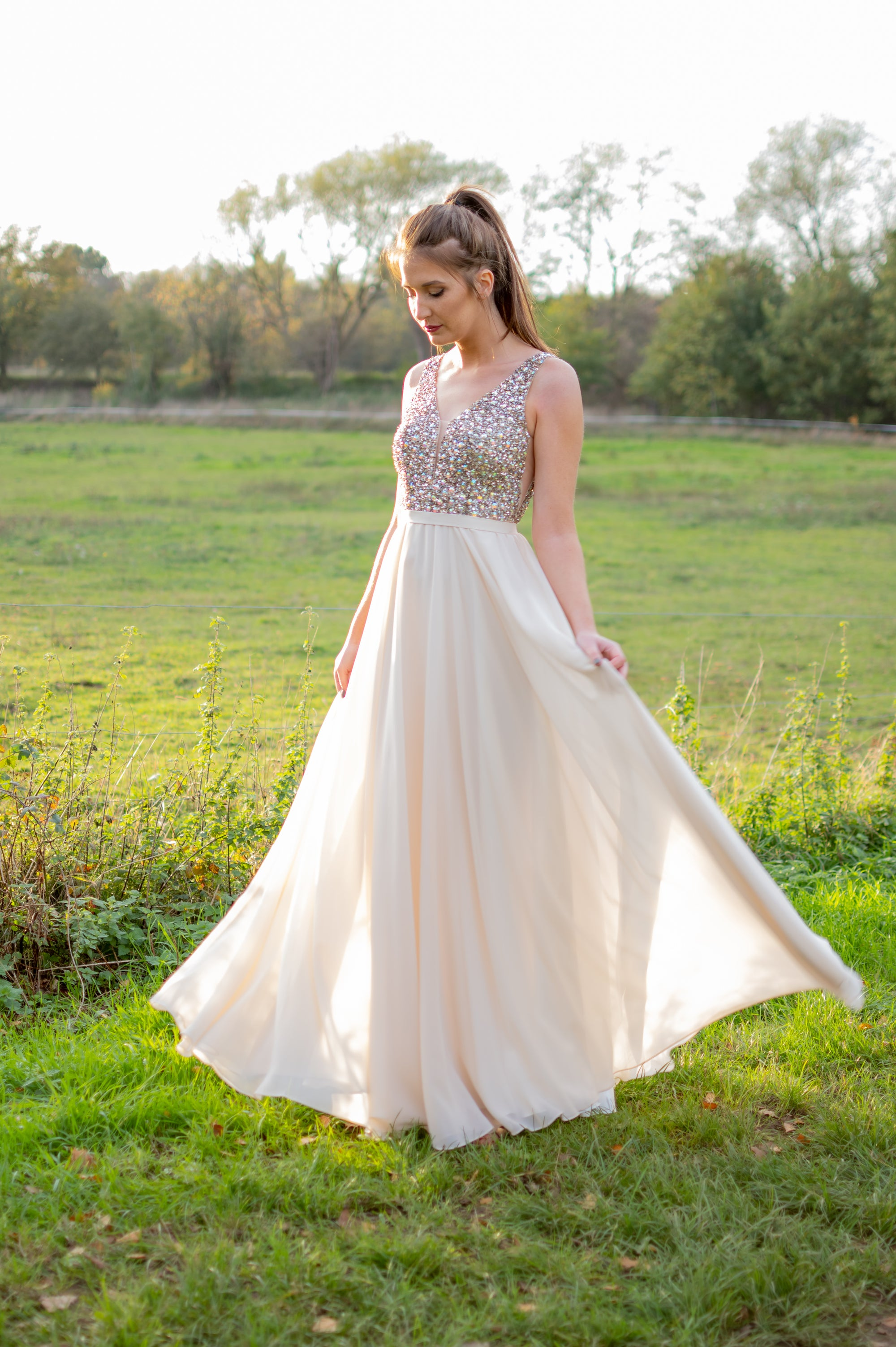 Hopes & Dreams Dress - Champagne