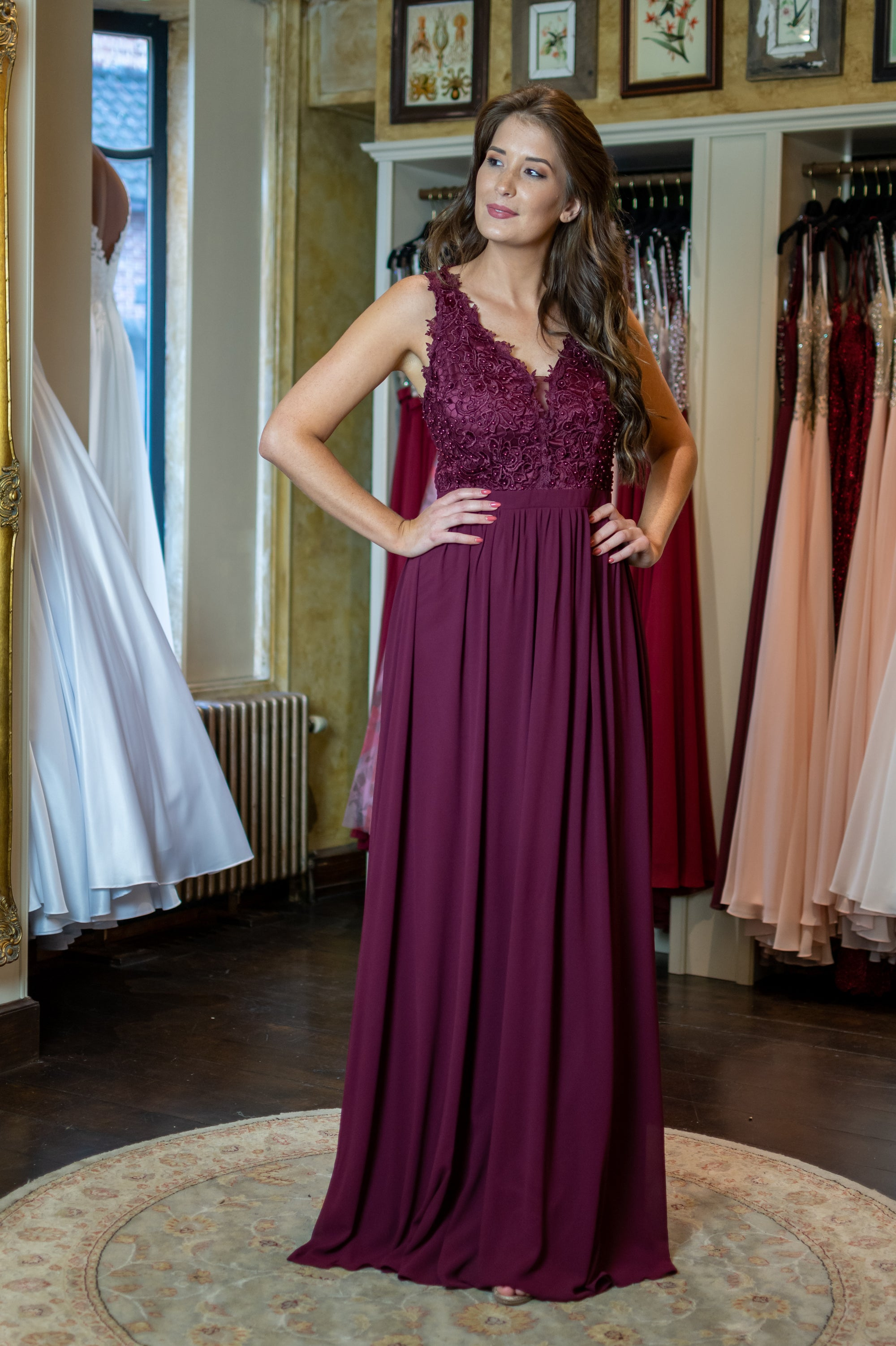 Beauty Queen Dress - Bordeaux