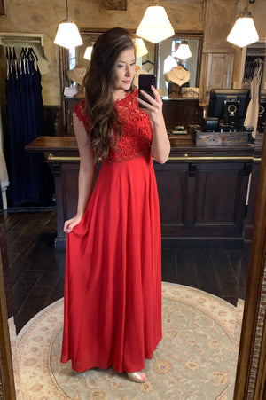 Save The Last Dance Dress - Bright Red
