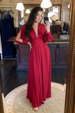 Hello Cherie Dress - Cerise Red
