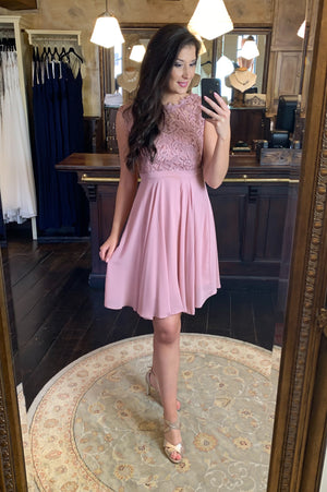 Love & Lace Dress - Old Pink