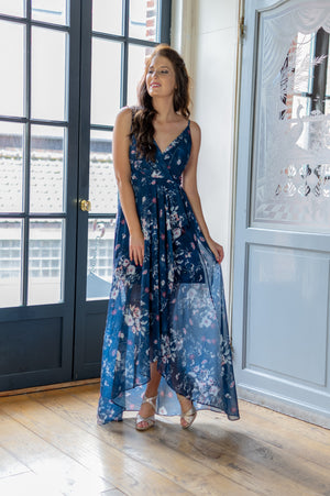 Wild Flower Dress - Navy