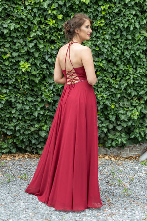Jaw Dropping Dress - Bordeaux