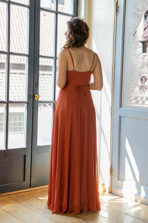 Romantic Rust Dress