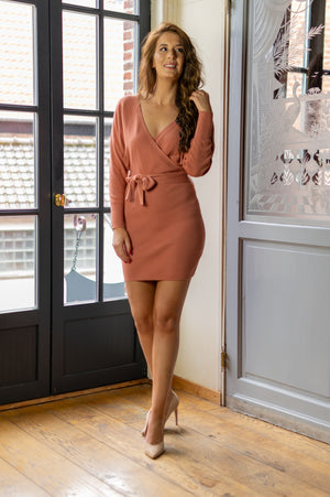 Dinner Date Dress - Old Pink