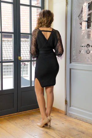 A Hint Of Glitter Dress - Black