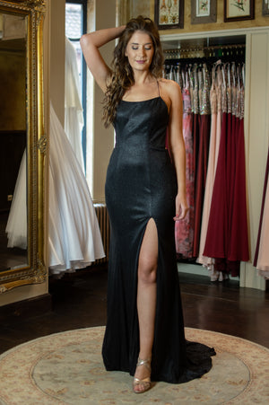 Runway Dress - Shimmering Black