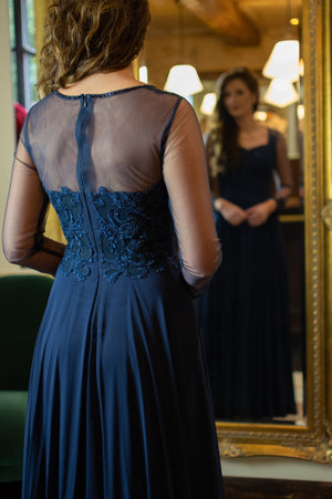 Soirée Dress - Navy