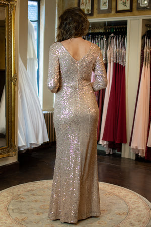 Marilyn Dress - Gold