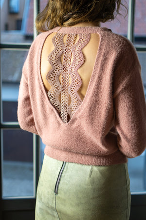 Fuzzy Sweater - Old Pink