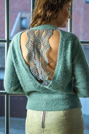 Fuzzy Sweater - Mint